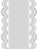 Διακοσμητικά σύνορα white-gray_center_2 Στοκ φωτογραφίες με δικαίωμα ελεύθερης χρήσης
