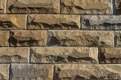 Διακοσμητικά τούβλα τοίχων Πέτρινα τούβλα κλείστε επάνω στοκ φωτογραφία με δικαίωμα ελεύθερης χρήσης