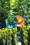 Διακοσμητικά, χειροποίητα λουλούδια γυαλιού στοκ φωτογραφία με δικαίωμα ελεύθερης χρήσης