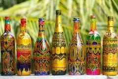Διακοσμητικά χειροποίητα μπουκάλια Στοκ Εικόνες