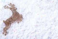 Διακοσμητικά χρυσά ελάφια Στοκ φωτογραφία με δικαίωμα ελεύθερης χρήσης