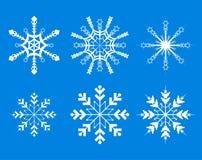 διακοσμητικά snowflakes στοιχεί&omeg Στοκ Εικόνα