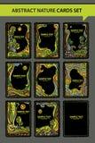Διακοσμητικές κάρτες φαντασίας Στοκ Εικόνες