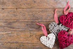 Διακοσμητικές καρδιές βαλεντίνων Στοκ εικόνες με δικαίωμα ελεύθερης χρήσης