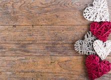 Διακοσμητικές καρδιές βαλεντίνων Στοκ εικόνα με δικαίωμα ελεύθερης χρήσης