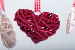 Διακοσμητικές καρδιές βαλεντίνων Στοκ Εικόνα