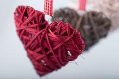 Διακοσμητικές καρδιές βαλεντίνων Στοκ φωτογραφία με δικαίωμα ελεύθερης χρήσης