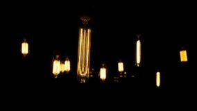 Διακοσμητικές παλαιές λάμπες φωτός ύφους του Edison Στοκ φωτογραφίες με δικαίωμα ελεύθερης χρήσης