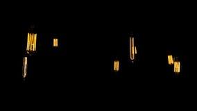 Διακοσμητικές παλαιές λάμπες φωτός ύφους του Edison Στοκ Φωτογραφίες
