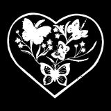 Διακοσμητικές πεταλούδες στη διανυσματική απεικόνιση eps10 καρδιών jpg Στοκ Φωτογραφίες