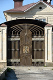 Διακοσμητικές πύλες χάλυβα Στοκ Εικόνες