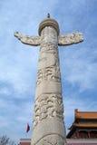 Διακοσμητικές στήλες Tian'anmen Στοκ Εικόνες