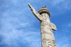 Διακοσμητικές στήλες Tian'anmen Στοκ Φωτογραφίες