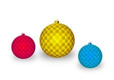 Διακοσμητικές σφαίρες Χριστουγέννων ελεύθερη απεικόνιση δικαιώματος