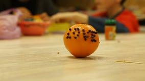 Διακοσμητικές τέχνες από τα πορτοκάλια απόθεμα βίντεο