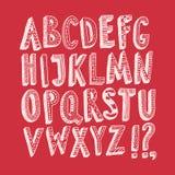 Διακοσμητικές ABC επιστολές Doodle στο φωτεινό υπόβαθρο Στοκ εικόνα με δικαίωμα ελεύθερης χρήσης