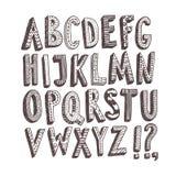 Διακοσμητικές ABC επιστολές Doodle Στοκ Εικόνα