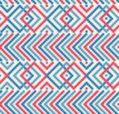 Διακοσμητική άνευ ραφής σύσταση στα παραδοσιακά χρώματα Στοκ Φωτογραφία