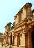 Διακοσμητική αίθουσα στον αρχαίο ναό Brihadisvara σε Thanjavur, Ινδία Στοκ Φωτογραφία