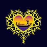 Διακοσμητική αγάπη 5 πλαισίων Στοκ εικόνα με δικαίωμα ελεύθερης χρήσης