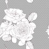 Διακοσμητική ανασκόπηση με τα λουλούδια τριαντάφυλλων ελεύθερη απεικόνιση δικαιώματος