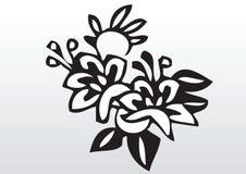 Διακοσμητική απεικόνιση λουλουδιών Στοκ φωτογραφία με δικαίωμα ελεύθερης χρήσης