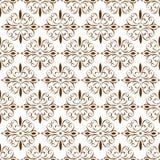 Διακοσμητική ασιατική καφετιά Floral όμορφη βασιλική εκλεκτής ποιότητας ταπετσαρία σύστασης σχεδίων ανοίξεων αφηρημένη άνευ ραφής Στοκ Εικόνες