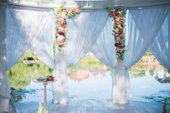Διακοσμητική γαμήλια αψίδα Στοκ Φωτογραφία