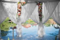 Διακοσμητική γαμήλια αψίδα Στοκ εικόνες με δικαίωμα ελεύθερης χρήσης