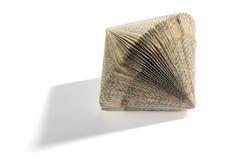 Διακοσμητική γεωμετρική μορφή βιβλίων κονσερτινών Στοκ φωτογραφία με δικαίωμα ελεύθερης χρήσης