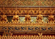Διακοσμητική γραμμή Ταϊλανδός τοίχων Στοκ Εικόνα