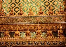 Διακοσμητική γραμμή Ταϊλανδός τοίχων Στοκ εικόνες με δικαίωμα ελεύθερης χρήσης