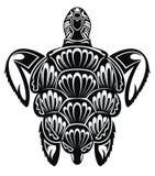 Διακοσμητική γραφική χελώνα θάλασσας Σχέδιο δερματοστιξιών απεικόνιση αποθεμάτων
