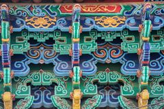 Διακοσμητική διακόσμηση ενός αρχαίου κινεζικού μοναστηριού Στοκ φωτογραφίες με δικαίωμα ελεύθερης χρήσης