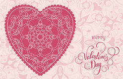 Διακοσμητική ευχετήρια κάρτα βαλεντίνων με τις floral περίκομψες καρδιές και την εγγραφή Στοκ φωτογραφία με δικαίωμα ελεύθερης χρήσης