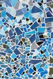 Διακοσμητική διακόσμηση τοίχων μωσαϊκών από το κεραμικό κεραμίδι Στοκ Φωτογραφία