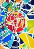 Διακοσμητική διακόσμηση τοίχων μωσαϊκών από το κεραμικό κεραμίδι Στοκ Φωτογραφίες