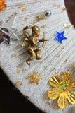 Διακοσμητική διακόσμηση Χριστουγέννων, στεφάνι Χριστουγέννων στοιχείων Στοκ φωτογραφίες με δικαίωμα ελεύθερης χρήσης