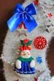 Διακοσμητική διακόσμηση Χριστουγέννων, στεφάνι Χριστουγέννων στοιχείων Στοκ φωτογραφία με δικαίωμα ελεύθερης χρήσης
