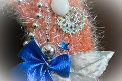 Διακοσμητική διακόσμηση Χριστουγέννων, στεφάνι Χριστουγέννων στοιχείων Στοκ εικόνα με δικαίωμα ελεύθερης χρήσης