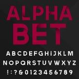 Διακοσμητική διανυσματική πηγή αλφάβητου διανυσματική απεικόνιση