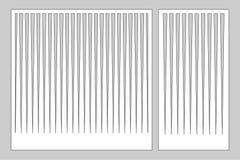 Διακοσμητική κάρτα που τίθεται για το τέμνοντα λέιζερ ή το σχεδιαστή Επιτροπή γραμμών σχεδίων Περικοπή λέιζερ Αναλογία 1:1  1:2 ε διανυσματική απεικόνιση