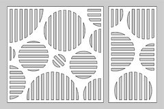 Διακοσμητική κάρτα που τίθεται για το τέμνοντα λέιζερ ή το σχεδιαστή γεωμετρική επιτροπή σχεδίων κύκλων Περικοπή λέιζερ Αναλογία  απεικόνιση αποθεμάτων