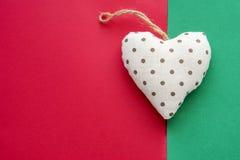 Διακοσμητική καρδιά Χριστουγέννων Στοκ φωτογραφίες με δικαίωμα ελεύθερης χρήσης