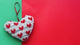 Διακοσμητική καρδιά Χριστουγέννων Στοκ Φωτογραφία