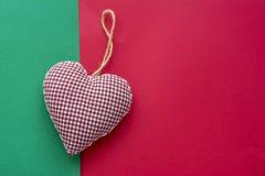 Διακοσμητική καρδιά Χριστουγέννων Στοκ εικόνες με δικαίωμα ελεύθερης χρήσης
