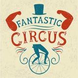 Διακοσμητική κατασκευασμένη εκλεκτής ποιότητας αφίσα για το τσίρκο Στοκ Εικόνα