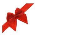 διακοσμητική κόκκινη κορδέλλα τόξων Στοκ Εικόνες