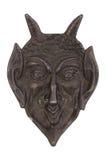 Διακοσμητική μάσκα σιδήρου που απομονώνεται στο λευκό Στοκ Φωτογραφία