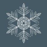 Διακοσμητική νιφάδα χιονιού Στοκ εικόνα με δικαίωμα ελεύθερης χρήσης